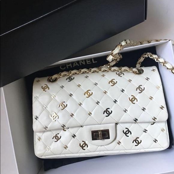 f54383f5ec09 CHANEL Bags | Reissue 255 White Bag With Cc Logos | Poshmark